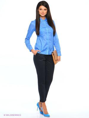 Блузка Femme. Цвет: голубой