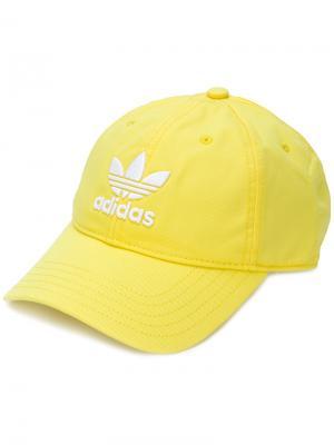 Кепка  Originals Trefoil Adidas. Цвет: жёлтый и оранжевый