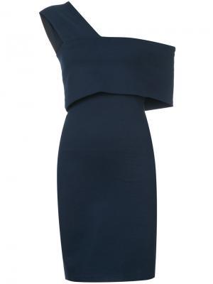 Платье с широкой лямкой на одно плечо Rosetta Getty. Цвет: синий