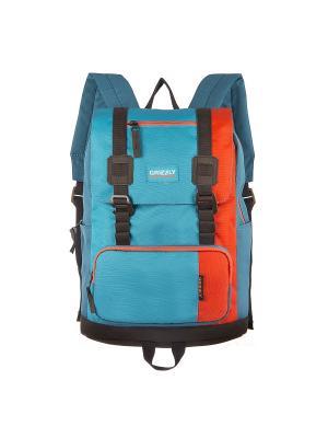Рюкзак Grizzly. Цвет: оранжевый, голубой
