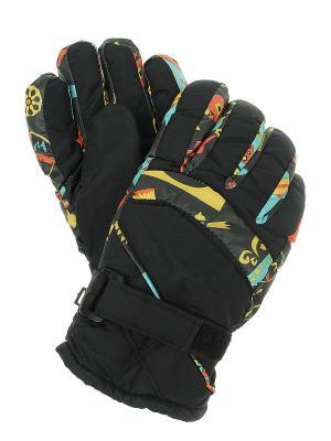 Перчатки женские Migura. Цвет: черный, оранжевый, желтый