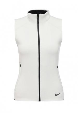 Жилет спортивный Nike. Цвет: белый
