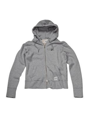 Толстовка Converse Sportswear Fz Hoodie. Цвет: серый