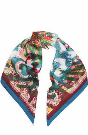 Шелковый платок с принтом Christian Lacroix. Цвет: бирюзовый