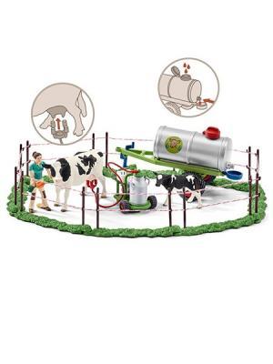 Набор семья коров на пастбище SCHLEICH. Цвет: бежевый, зеленый, серый