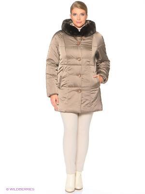 Утепленное пальто MONTSERRAT. Цвет: темно-бежевый