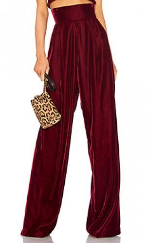 Широкие брюки vivian Petersyn. Цвет: красное вино