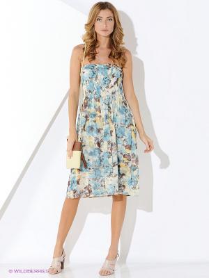 Платье Malvin. Цвет: бирюзовый