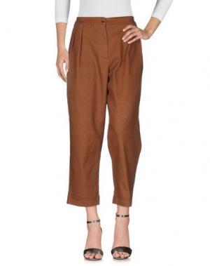 Джинсовые брюки BACKGROUND. Цвет: коричневый