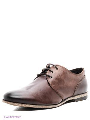 Туфли PIRANHA. Цвет: коричневый