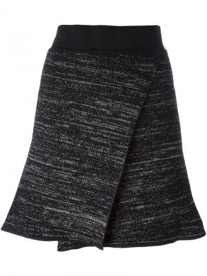 Трикотажная юбка с запахом Isabel Marant. Цвет: чёрный