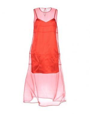 Длинное платье BARBARA CASASOLA. Цвет: красный