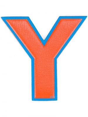 Стикер Y Anya Hindmarch. Цвет: жёлтый и оранжевый