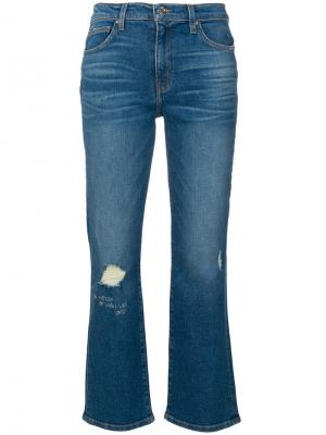Состаренные укороченные джинсы Iro. Цвет: синий