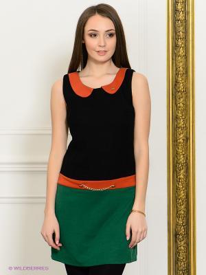 Платье Eunishop. Цвет: зеленый, терракотовый, черный