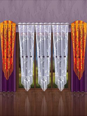 Комплект штор Wisan. Цвет: фиолетовый, оранжевый, белый