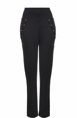 Хлопковые брюки с эластичным поясом и карманами Dorothee Schumacher. Цвет: черный