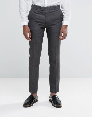 Harry Brown Серые брюки узкого кроя. Цвет: серый