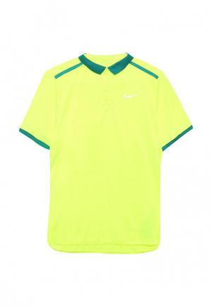 Поло Nike. Цвет: желтый