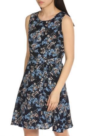 Изысканное летнее платье YUMI. Цвет: navy