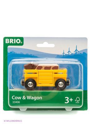 BRIO  Вагон с коровой,8,6х3,4х4,8см,блист.. Цвет: прозрачный
