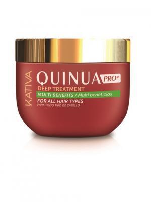 Интенсивный уход Защита цвета KATIVA для всех типов волос QUINUA, 250 мл. Цвет: красный