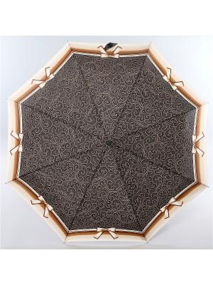 Зонт Zest, 3 слож, ПолнАвто, П-Э Zest. Цвет: черный, белый, темно-бежевый