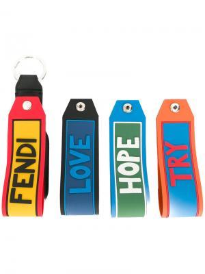 Комплект из 4 брелков Vocabulary Fendi. Цвет: многоцветный