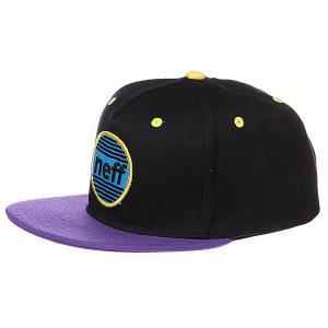 Бейсболка  Average Black/Purple Neff. Цвет: фиолетовый,черный