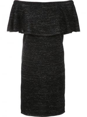 Платье с открытыми плечами Trina Turk. Цвет: чёрный