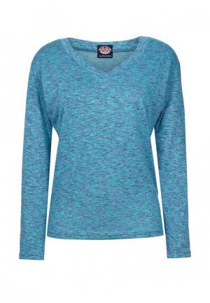 Пуловер Mayamoda. Цвет: бирюзовый