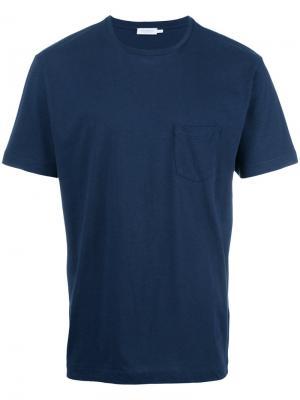 Футболка с карманом Sunspel. Цвет: синий