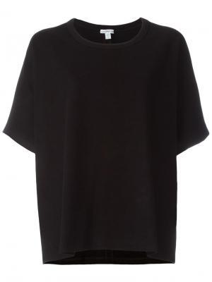 Свободная футболка James Perse. Цвет: чёрный
