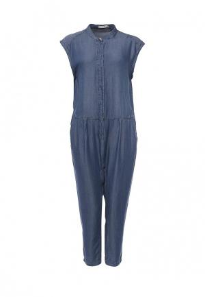 Комбинезон джинсовый Piazza Italia. Цвет: синий