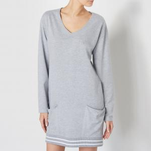 Сорочка ночная LOVE JOSEPHINE. Цвет: серый меланж