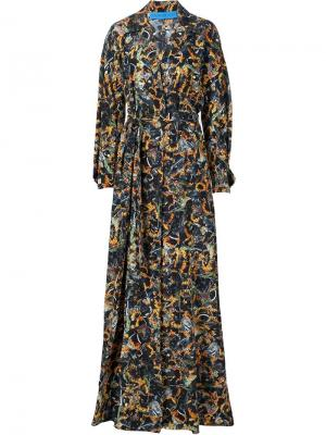 Waist band sunflower print dress Jonathan Cohen. Цвет: чёрный