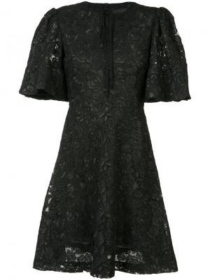 Keyhole neck floral dress Co. Цвет: чёрный