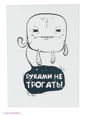 Обложка для паспорта Руками не трогать! Mitya Veselkov. Цвет: белый, темно-зеленый
