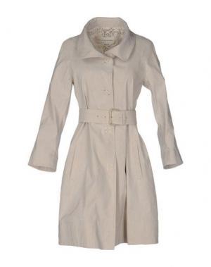 Легкое пальто VIA DI CAMBIO. Цвет: светло-серый