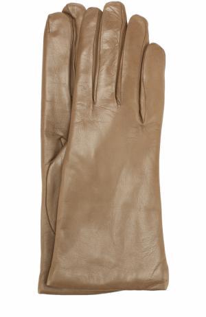Кожаные перчатки Sermoneta Gloves. Цвет: темно-бежевый