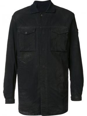 Рубашка карго 11 By Boris Bidjan Saberi. Цвет: чёрный