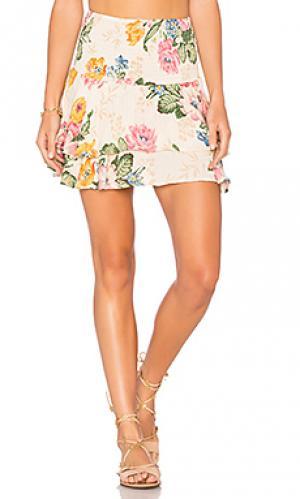 Мини юбка со сборками AUGUSTE. Цвет: беж