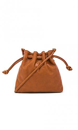 Маленькая сумка henri maison Clare V.. Цвет: коньяк