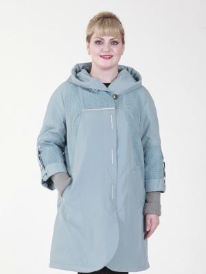 Пальто Аэлина VIKO. Цвет: серо-голубой