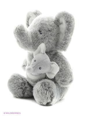 Игрушка мягкая (Oh So Soft Elephant & Rattle Combo, 28 см). Gund. Цвет: серый
