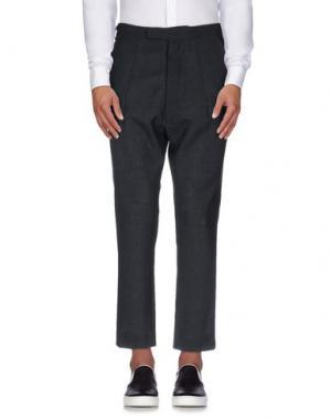Повседневные брюки NOSTRASANTISSIMA. Цвет: стальной серый