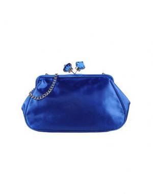 Средняя сумка из текстиля PAPÀ RAZZI. Цвет: ярко-синий