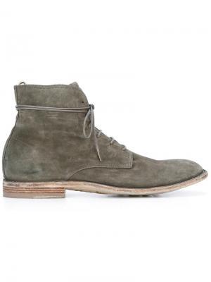Ботинки на шнуровке Officine Creative. Цвет: серый