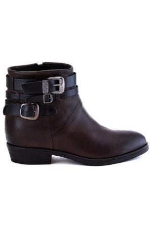 Ботинки утепленные Elena. Цвет: черно-серый