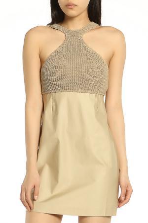 Яркое коктейльное платье ERMANNO BY SCERVINO. Цвет: 034 sand